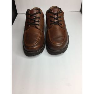 Mens Size 12 W Brown Leather GLACIER CASUAL OXFORD